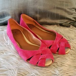 Lucky brand pink suede flats